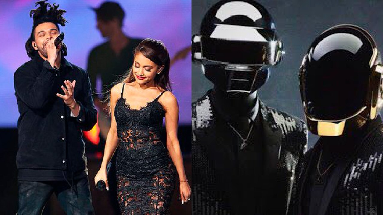 The Weeknd con Ariana Grande y Daft Punk en el Super Bowl