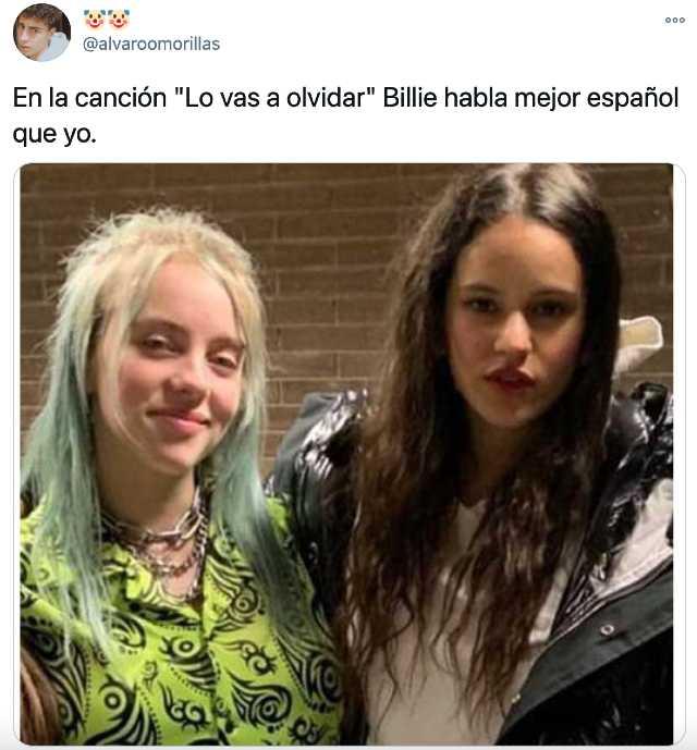 Reacciones a la canción de Billie Eilish y Rosalía