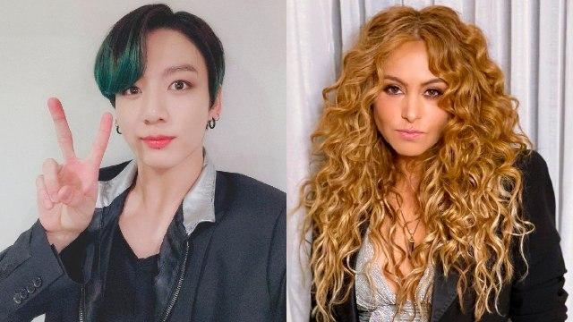 Jungkook de bts con nuevo look se parece a Paulina rubio