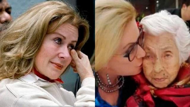 Laura Zapata llorando por abuela doña eva mange