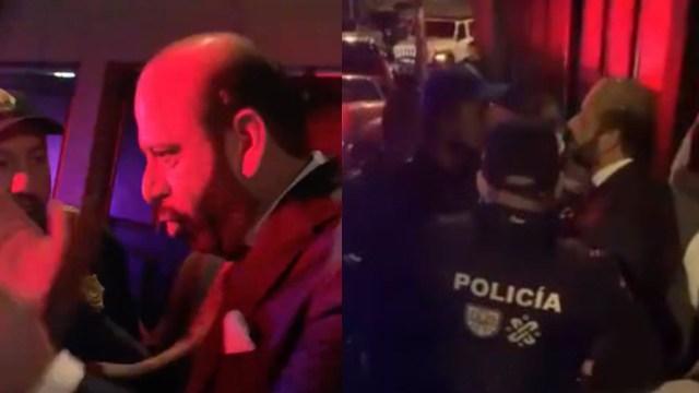 Lord Mis Zapatos: Hombre insulta y amenaza a policías tras pararle su fiesta Covid en Tlacopac