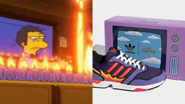 """Adidas lanza tenis de Los Simpson con """"la llamarada Moe"""""""