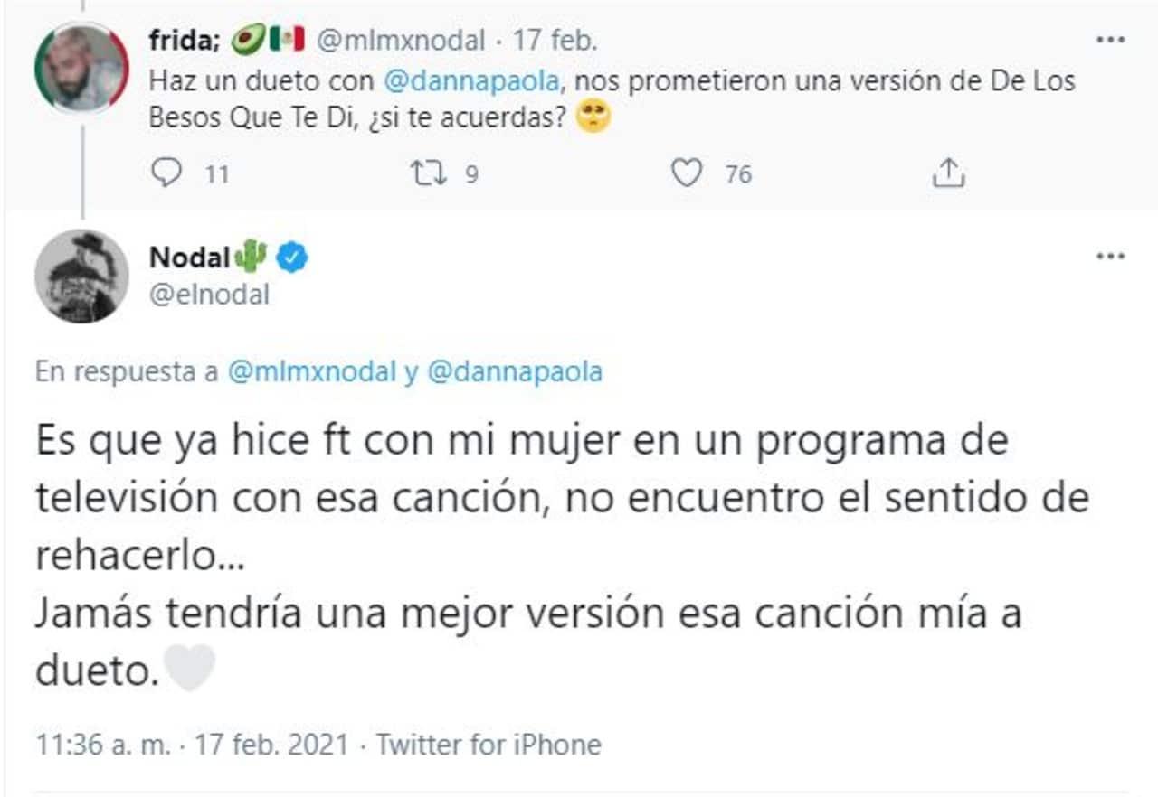 Christian Nodal Danna Paola Belinda Música
