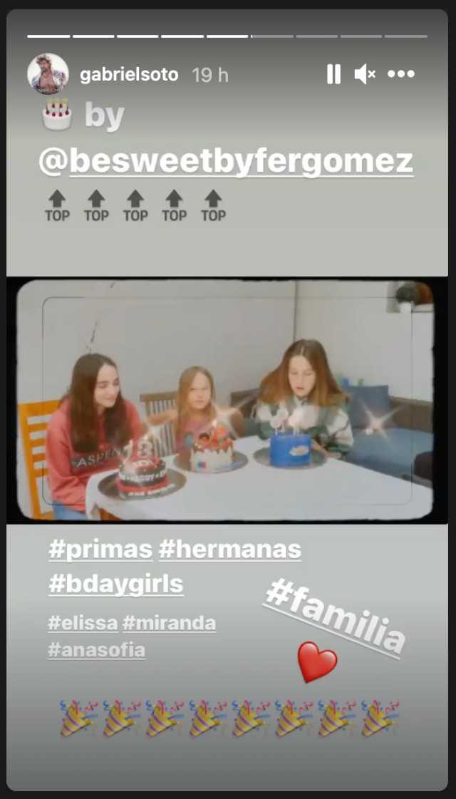 Cumpleaños de las hijas de Gabriel Soto organizado por Irina