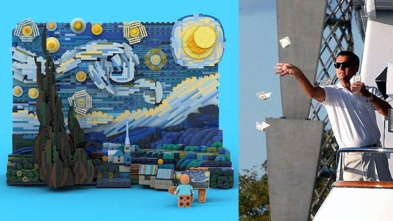 Lego Van Gogh meme Di Caprio