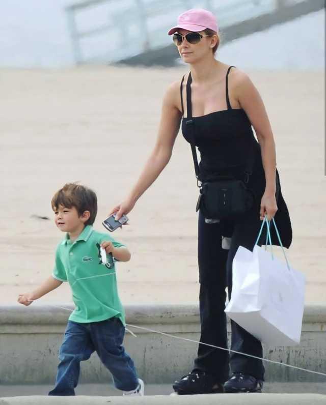 Aracely Arámbula con su hijo Daniel