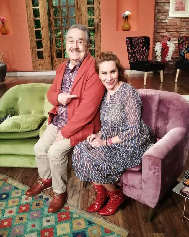 Pedro Sola con Mónica Castañeda