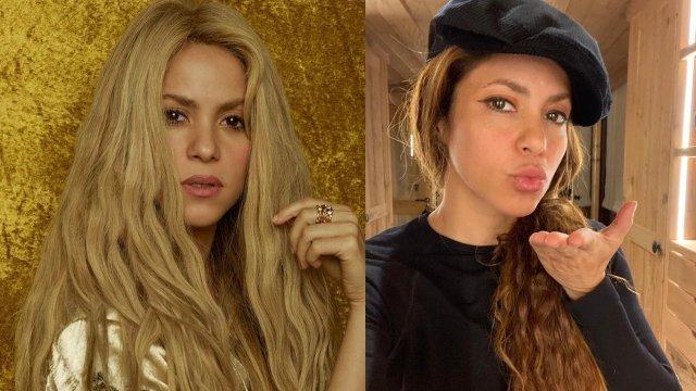 Shakira mandando beso