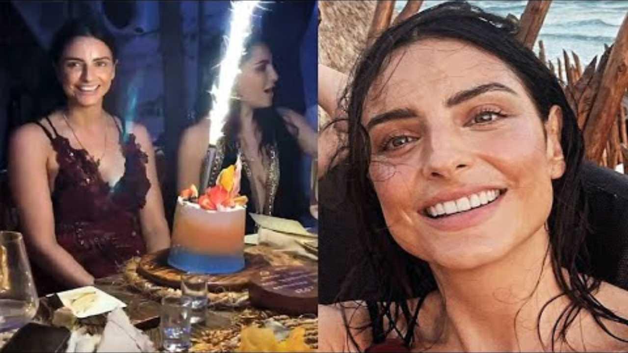 Aislinn Derbez festeja su cumpleaños junto a guapo y misterioso galán