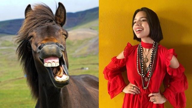 Angela Aguilar hace ejercicio a caballo