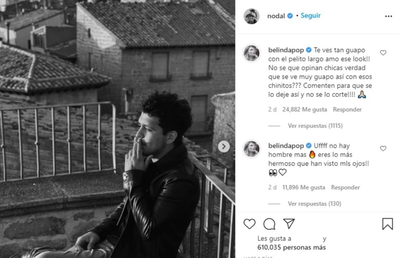 Nodal nuevo look rockero Belinda comenta