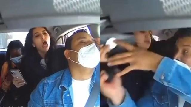Chofer pide que usen cubrebocas le tosen