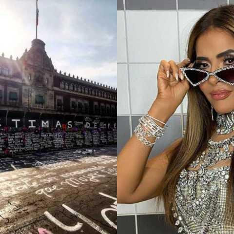 Gloria Trevi reacciona a muros en el Palacio Nacional y manda importante mensaje feminista