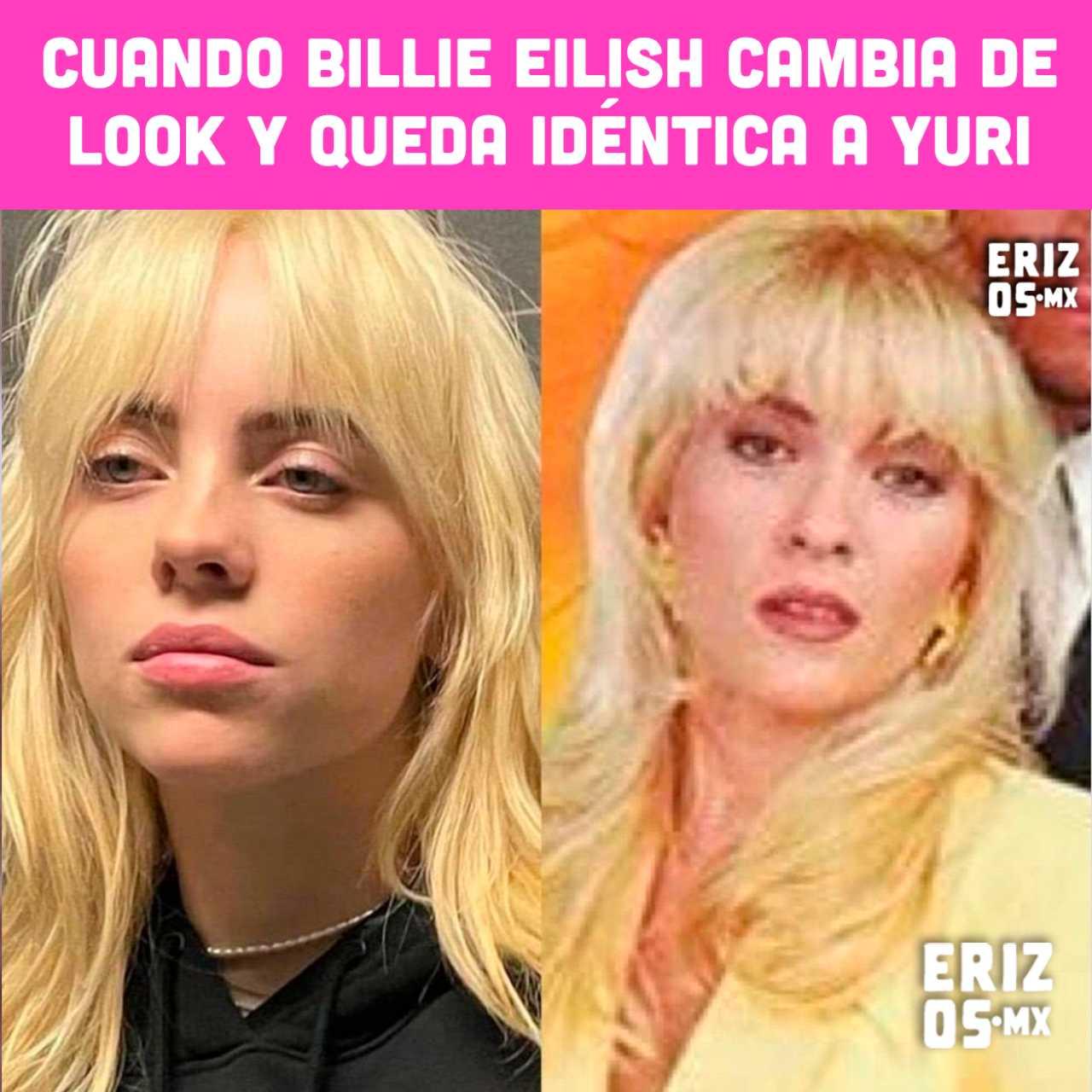 Meme de Billie Eilish igual a Yuri