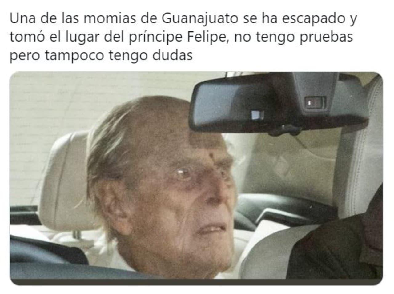 memes principe felipe saliendo hospital viral