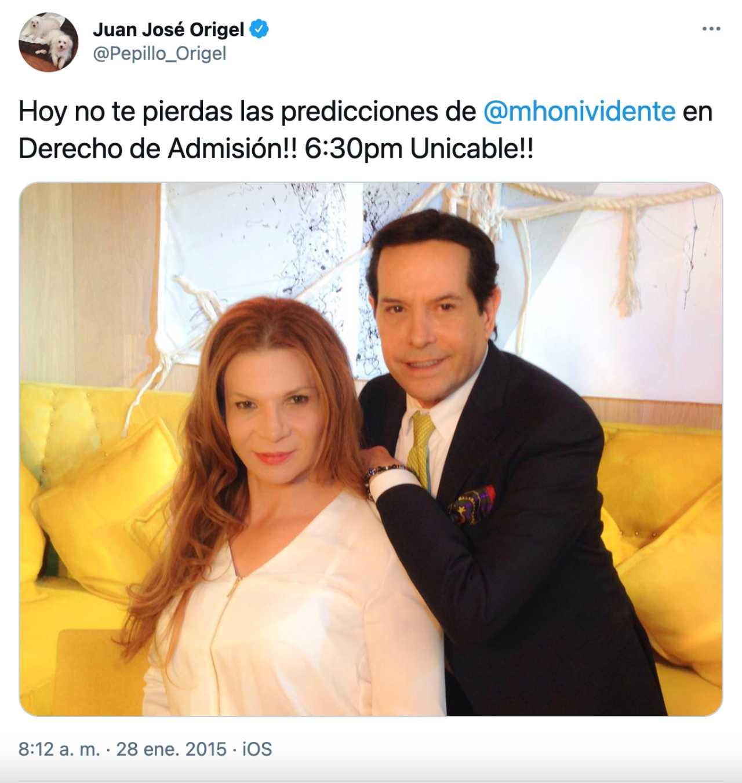 La foto original del meme de Pepillo Origel y Mhoni Vidente