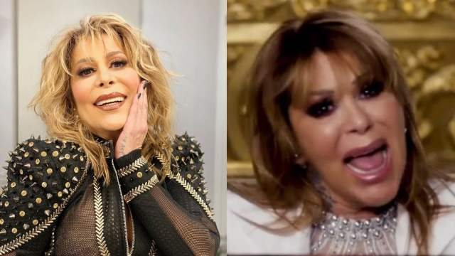 Alejandra Guzmán cantando con diferentes looks