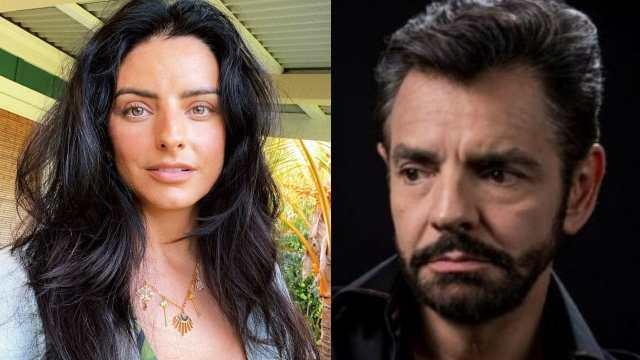 Aislinn Derbez y Eugenio Derbez enojado