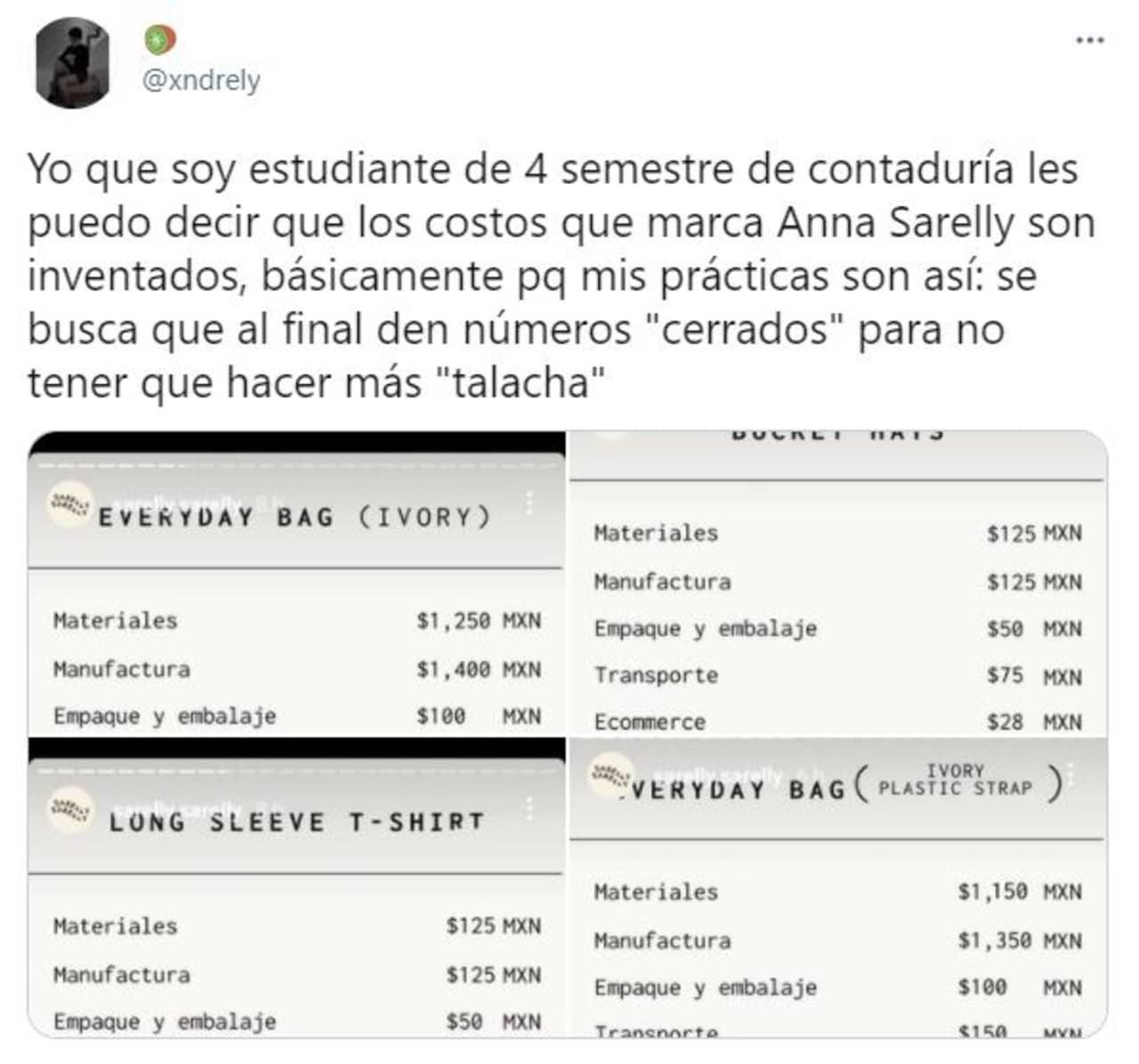 Anna Sarelly influencer bolsas 5 mil pesos