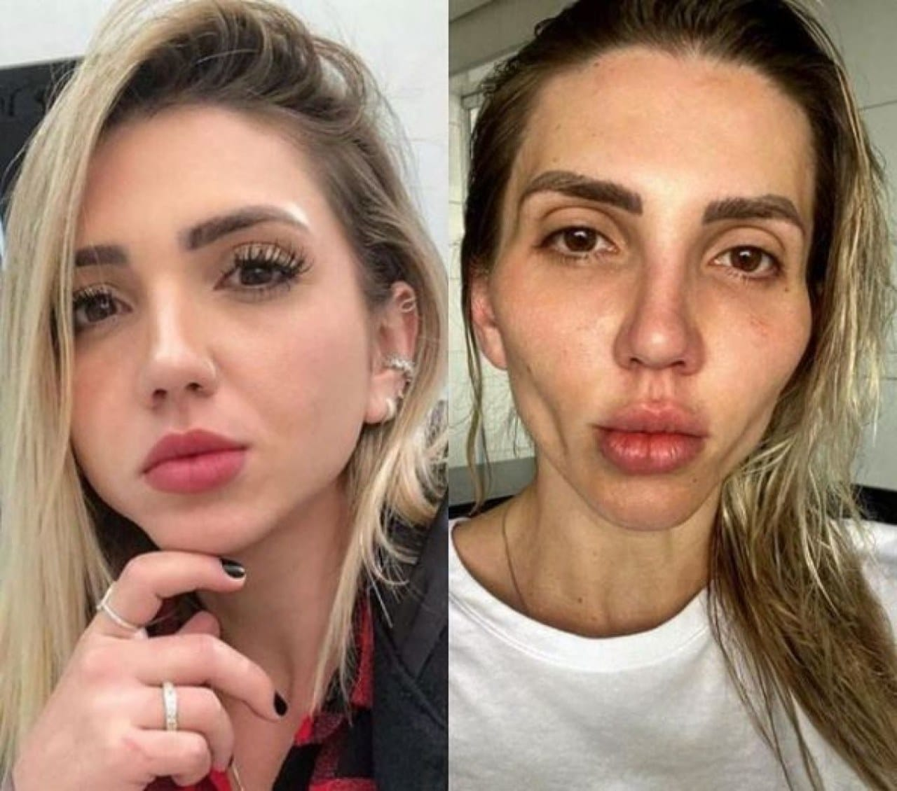 La transformación de la tiktoker brasileña