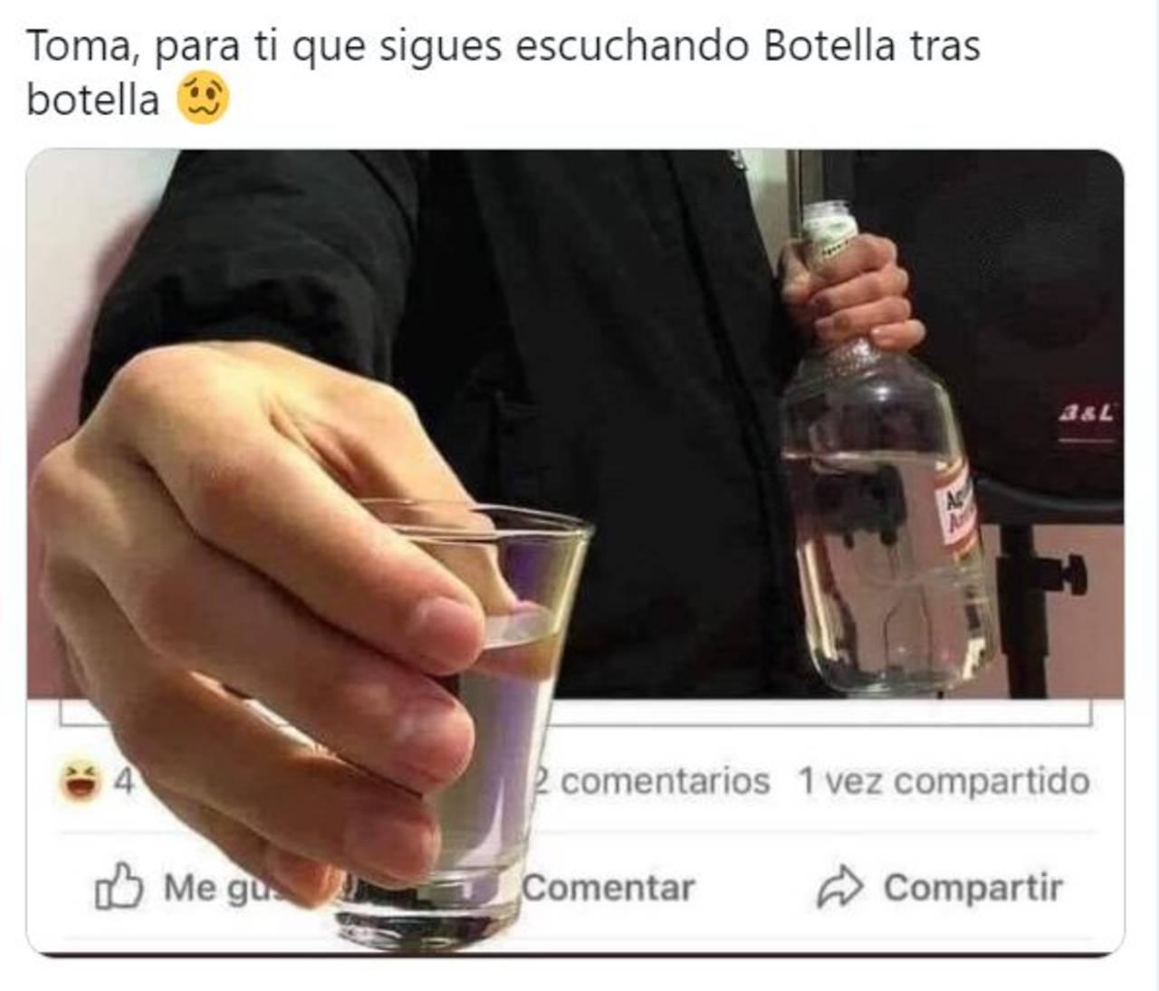 Nodal Gera MX memes botella tras botella