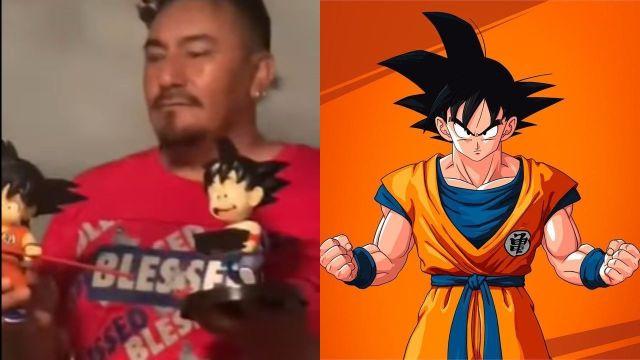 Papá se vuelve viral por su gran colección de Dragon Ball Z