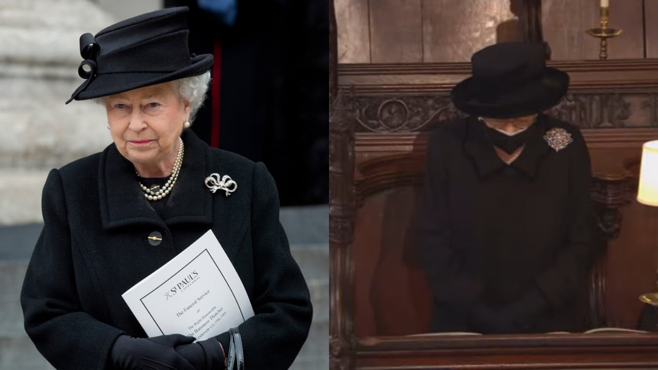 Así fue el funeral del príncipe Felipe donde la reina Isabel lució solita