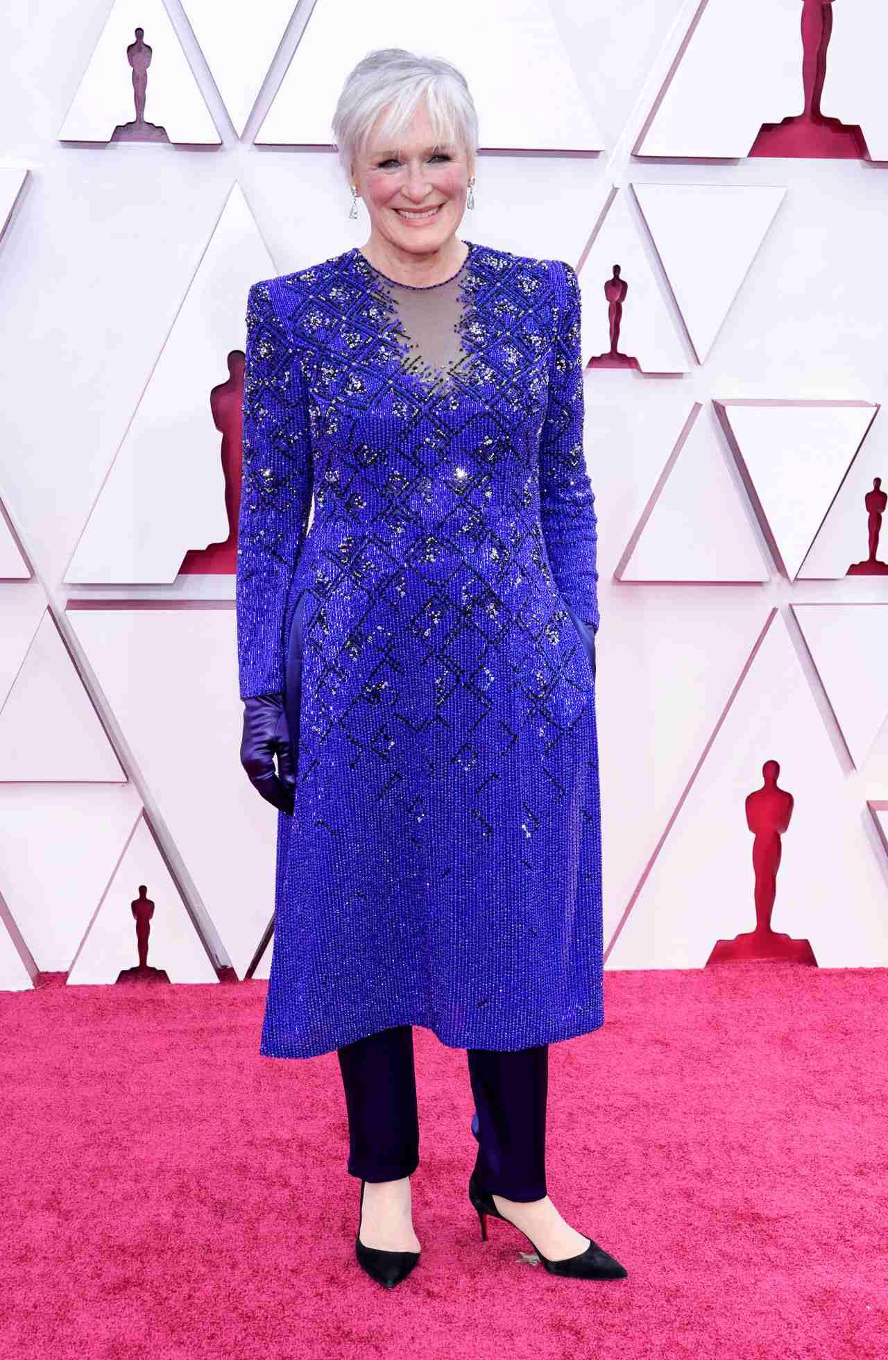 Glenn Close alfombra roja premios oscar