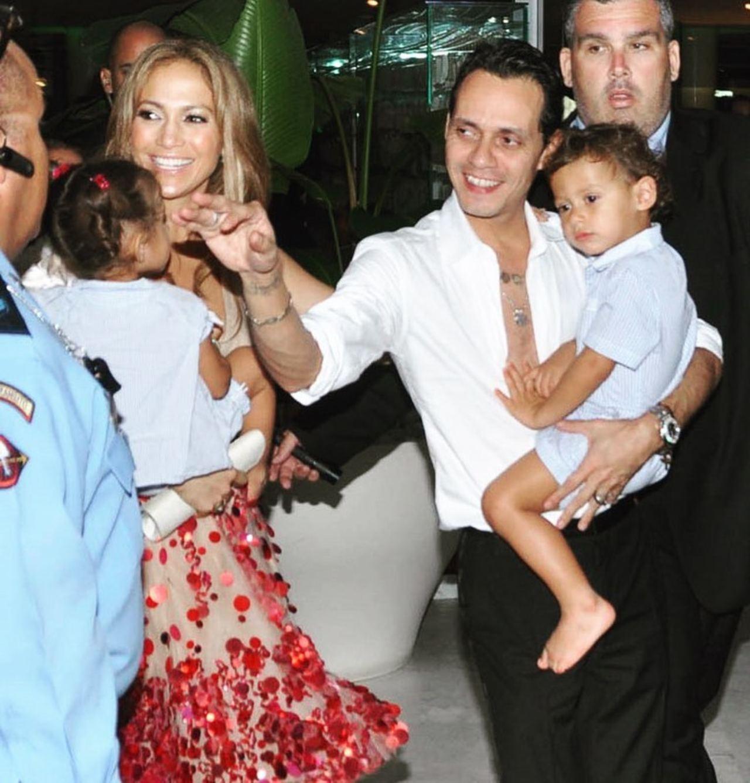 Marc Anthony JLo y sus hijos