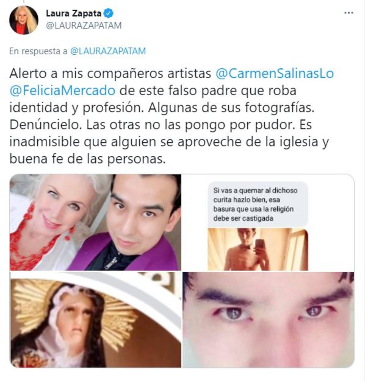 Laura Zapata padre falso
