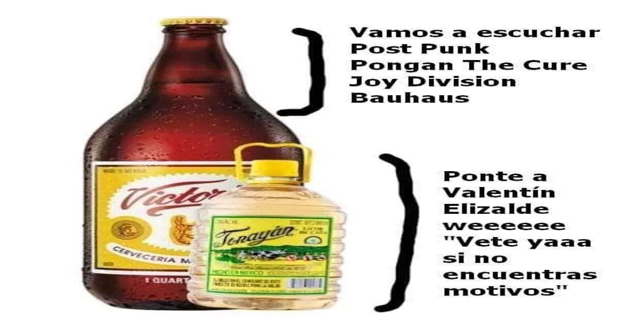 Meme de los corchetes con una caguama y un tonayan
