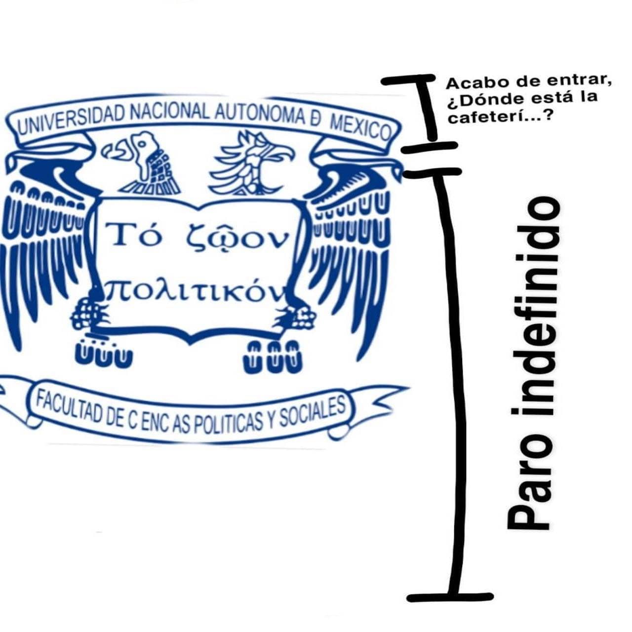 Meme de corchetes con el logo de la FCPYS