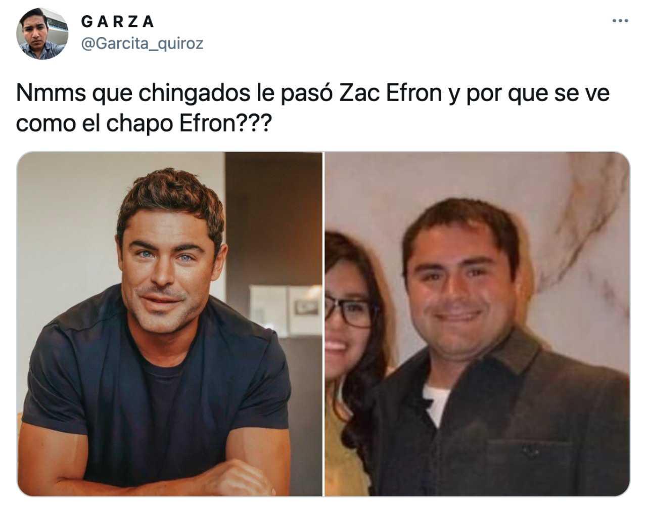 Memes de Zac Efron y su cambio de rostro