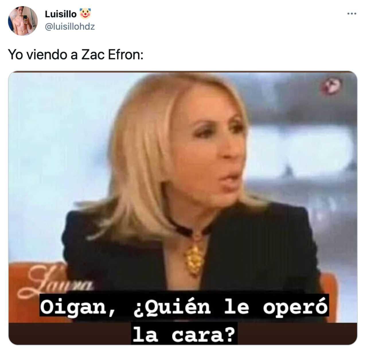 Meme de Zac Efron con Laura Bozzo