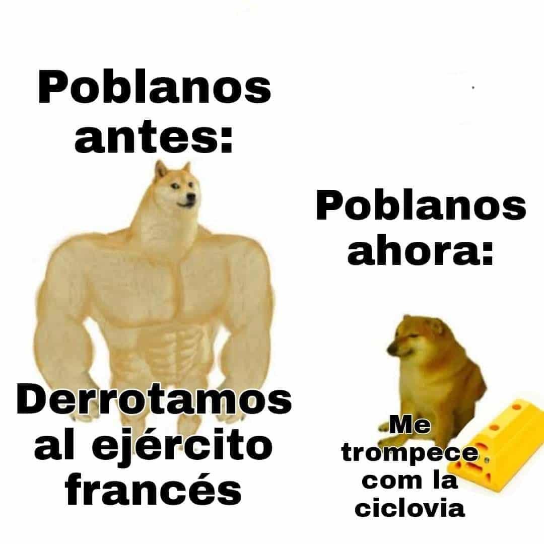viral memes caídas poblanos ciclovía