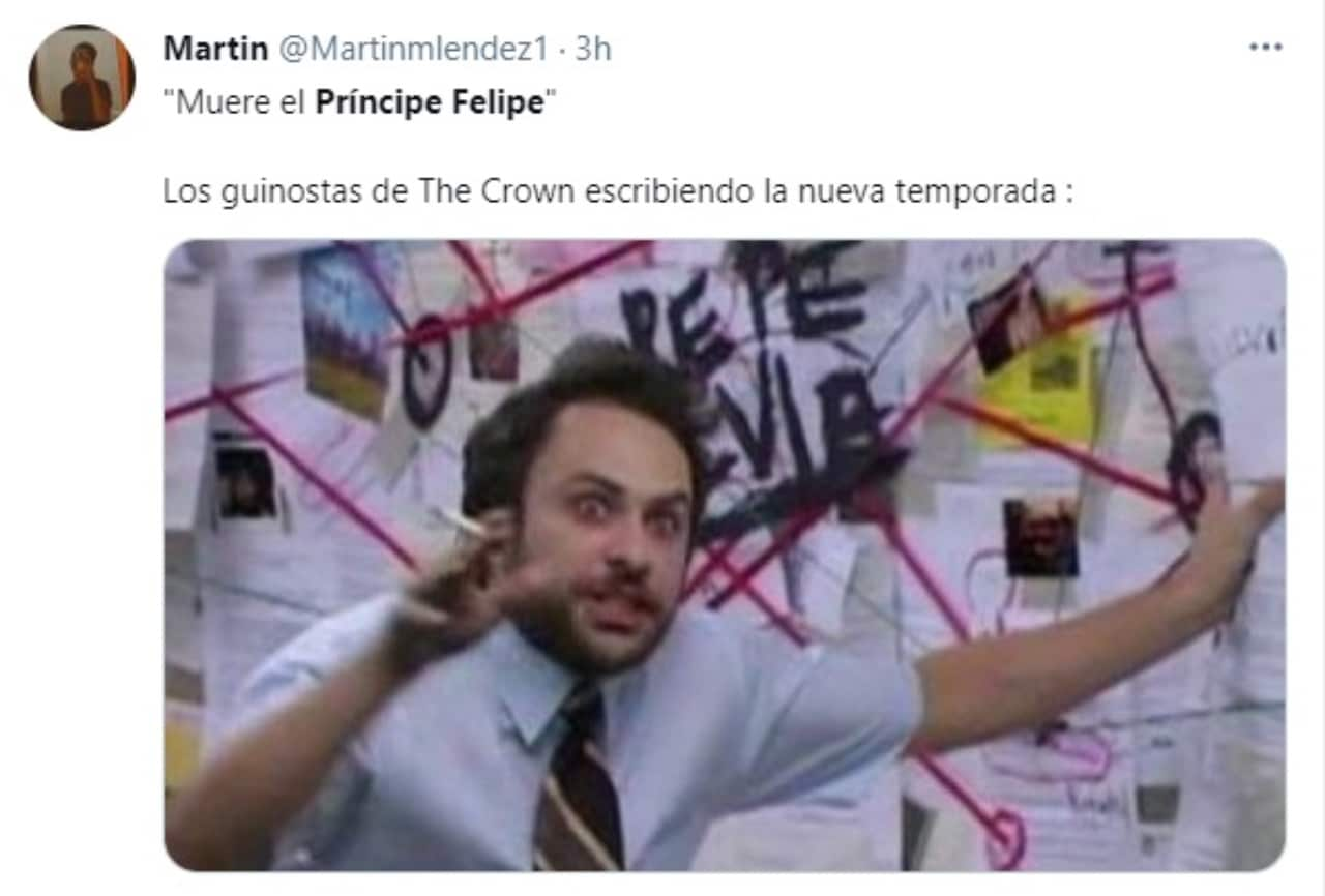 Meme muerte principe Felipe The Crown