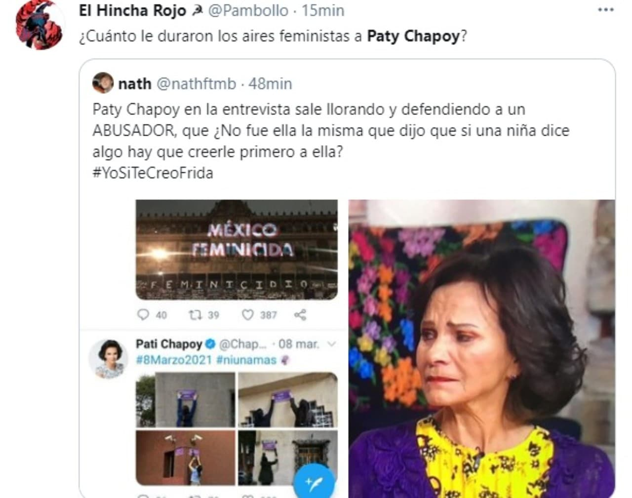 paty Chapoy se dice feminista tweet