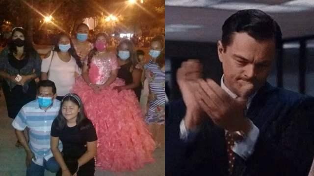 Quinceañera comparte su fiesta con migrantes