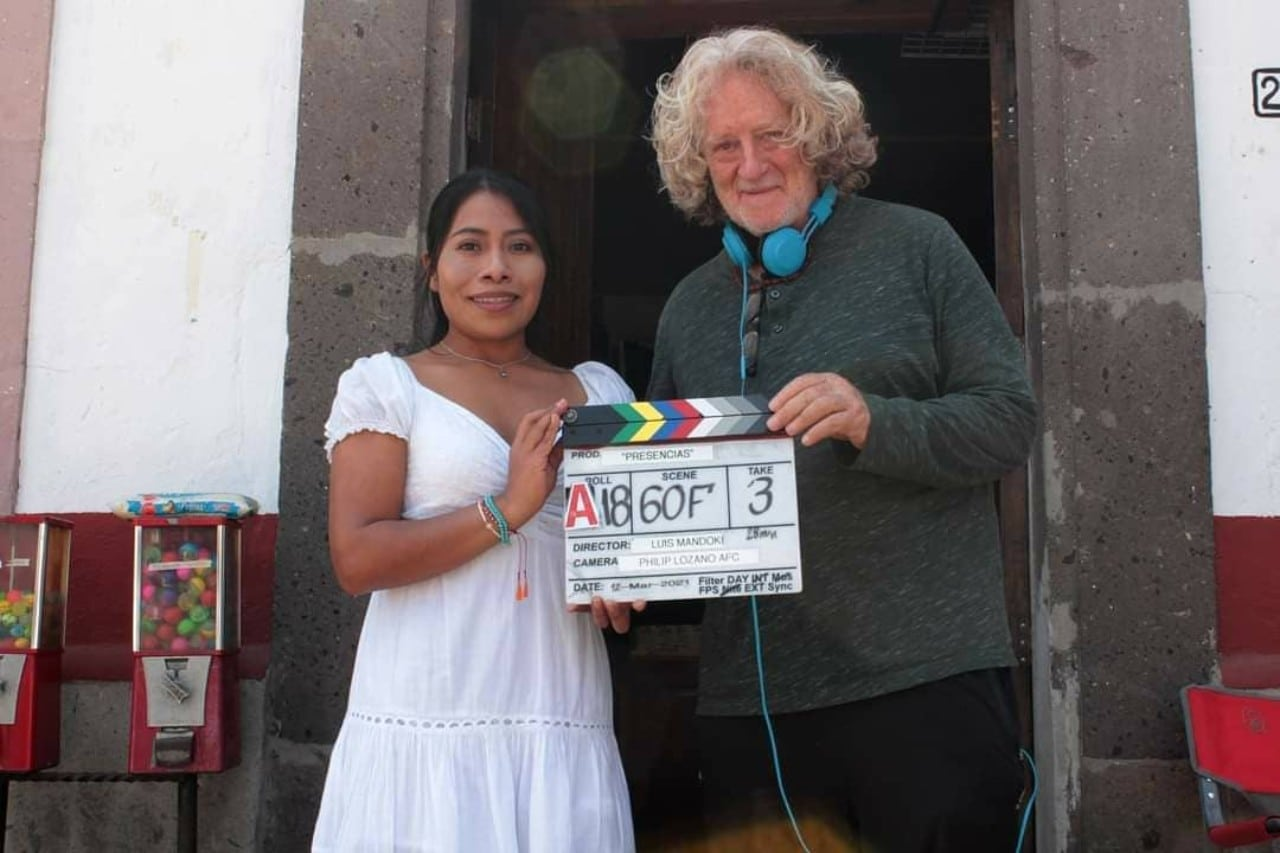 Yalitza Aparicio con Luis Mandoki