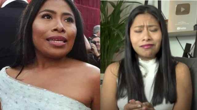 Yalitza Aparicio llora accidente