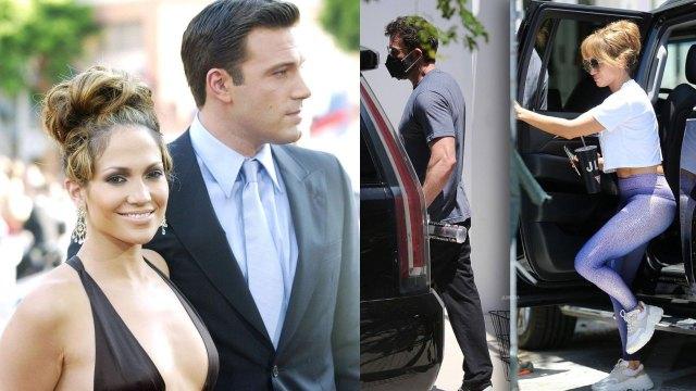 Ben Affleck y JLo se besan en publico