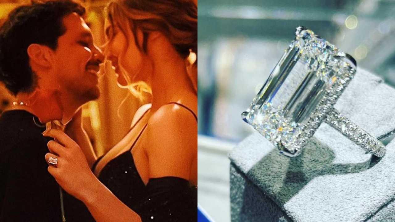 Belinda Nodal anillo compromiso precio 3 millones de dólares