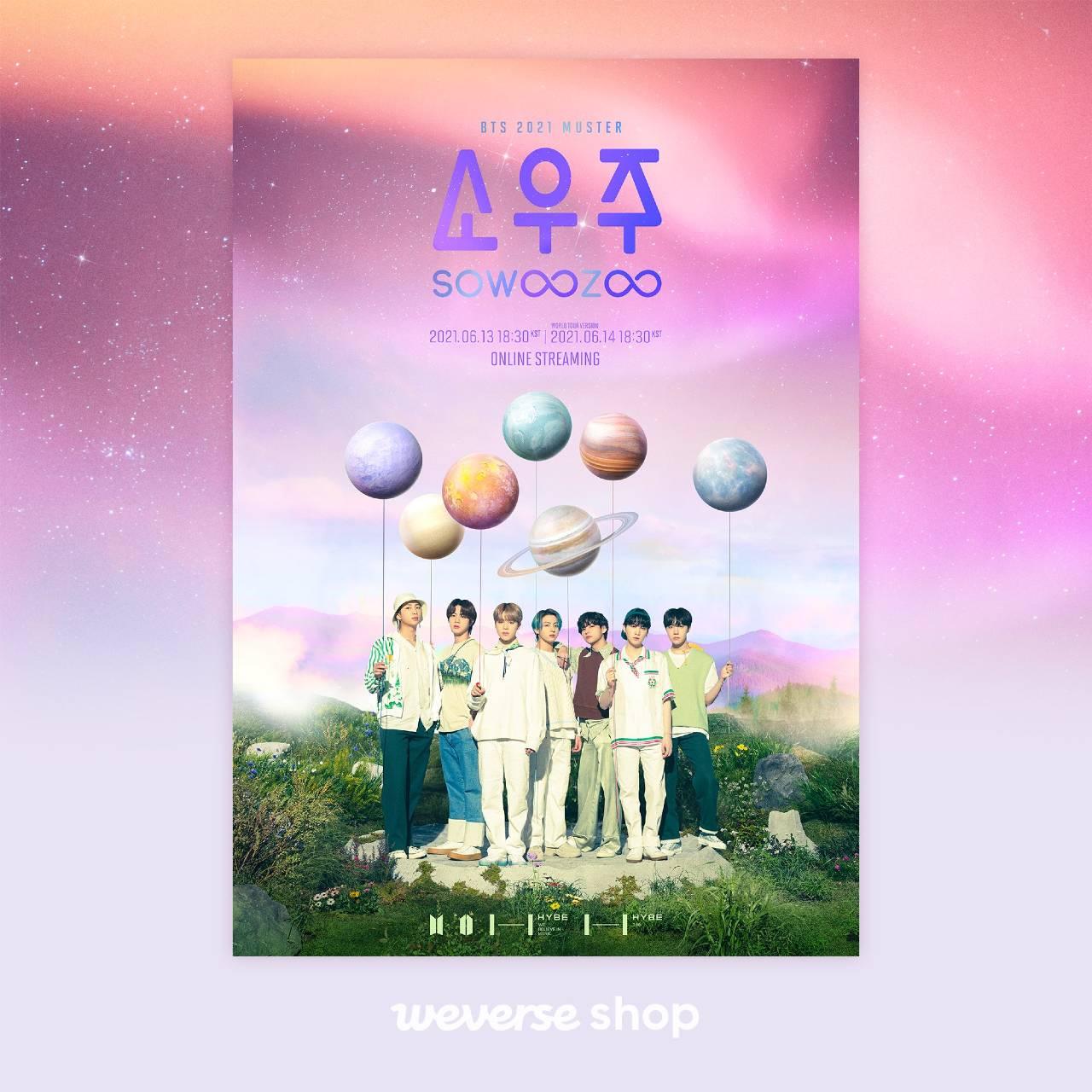 BTS revela Muster 2021 Sowoozoo evento