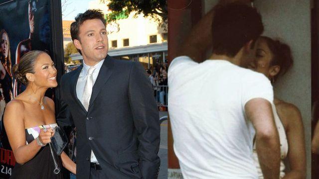 JLo y Ben Affleck juntos besandose