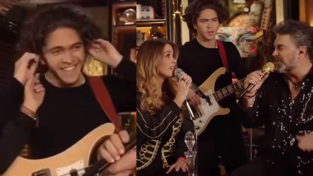 Hijo de Lucero y Mijares aparece por primera vez en público durante su concierto