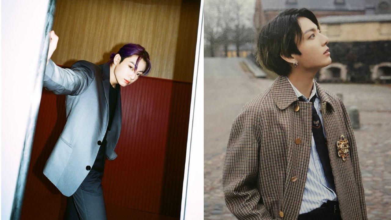 Jungkook con cabello morado nuevo look