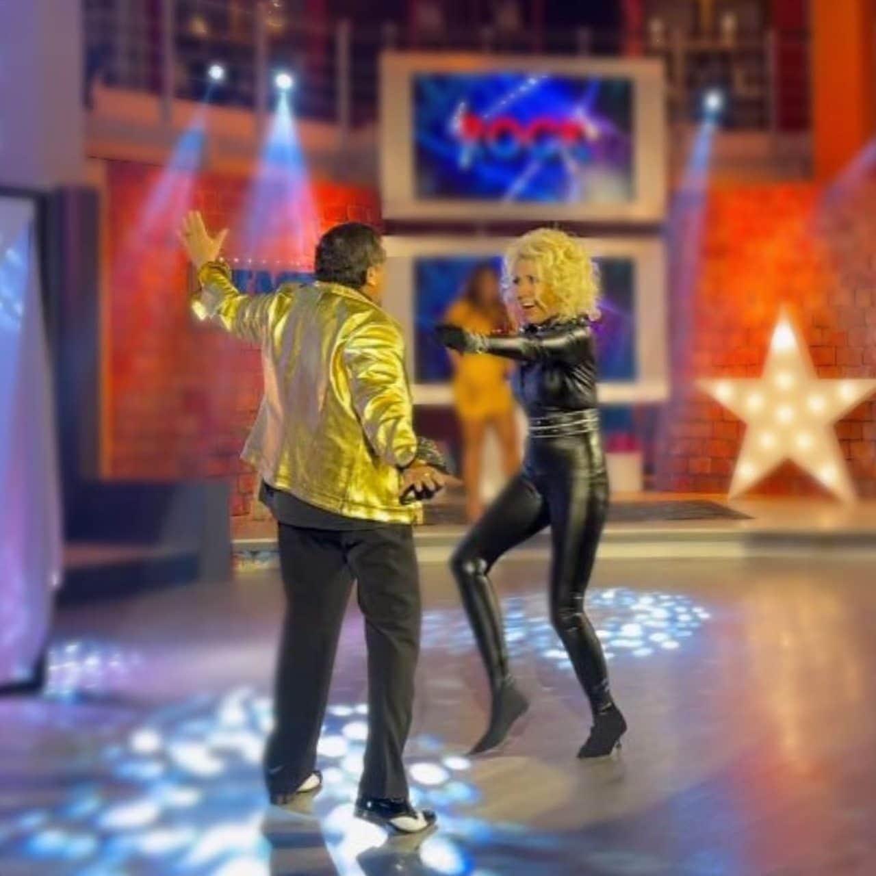 Laura Bozzo Carlos Bonavides bailando
