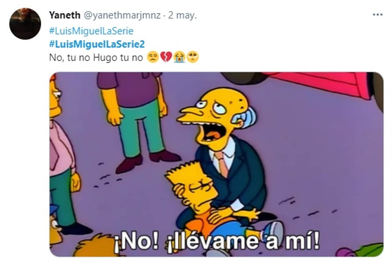 Meme simpson muerte Hugo Lopez