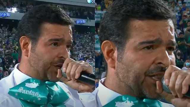 Pablo Montero se equivoca cantando el Himno Nacional en la final Cruz Azul vs. Santos