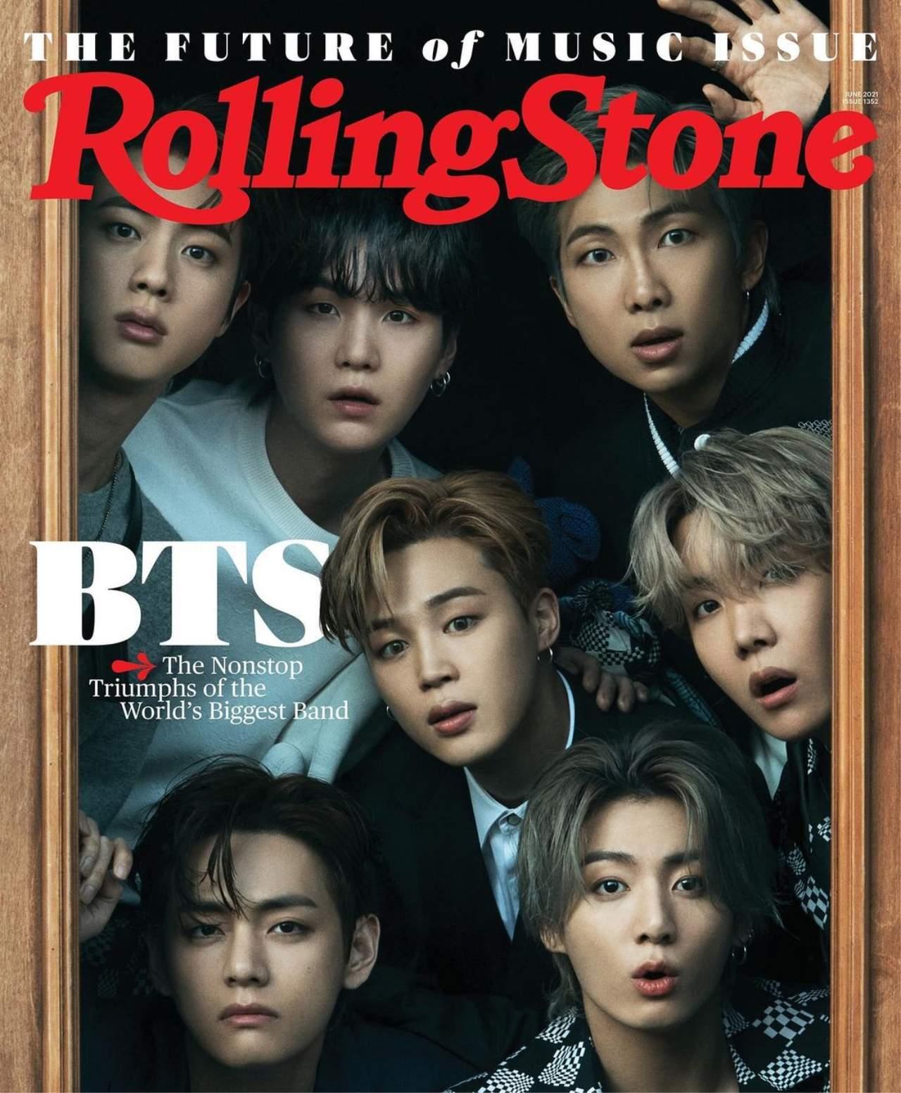 Portada de Rolling Stone con BTS